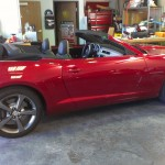 2013 Camaro Convertible two tone side tear down