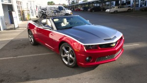 2013 Camaro Convertible two tone Pass side completed