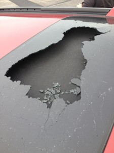 what to do if the glass of your sunroof cracks