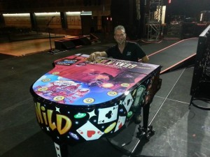 Team Acme at Axl Rose's Piano