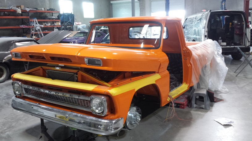 66 Chevy Pickup Glass Install (1)