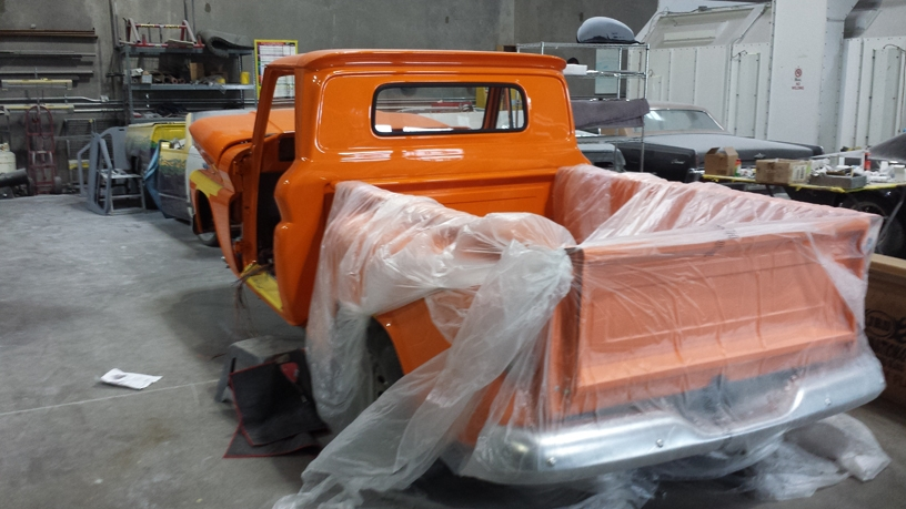 66 Chevy Pickup Glass Install (2)