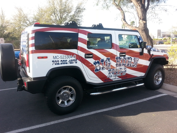 Big Horn tours Hummer H2 Wrap