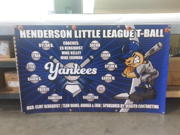 Little League Baseball Banner