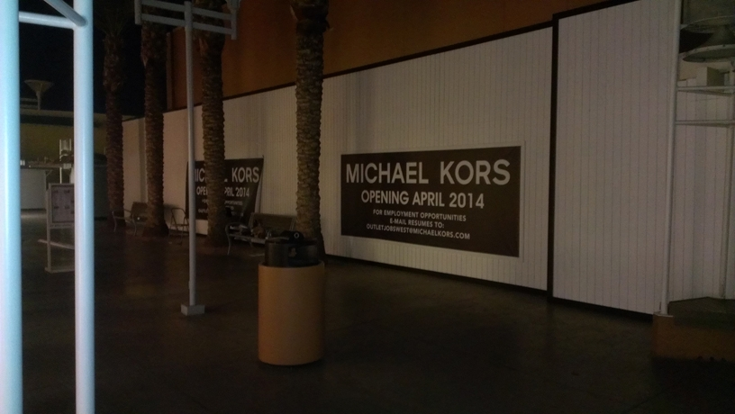 Michael Kors Banners with Wood Trim