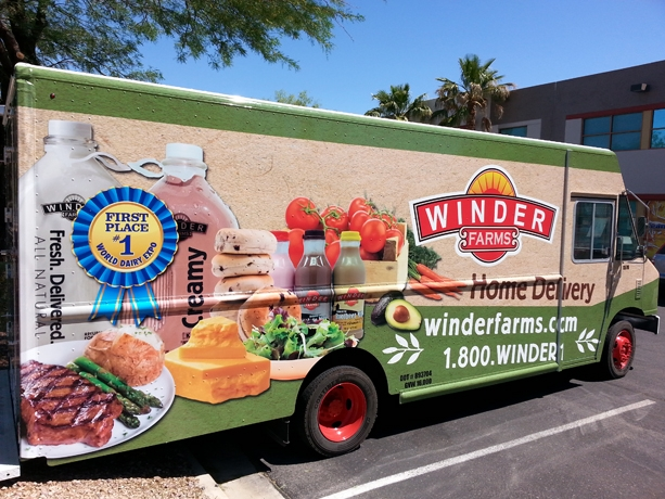 Winder Farms Delivery Truck Graphics