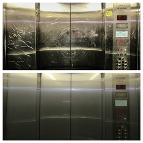anti-graffiti elevator