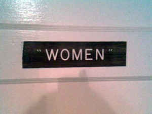 "restroom for ""women"""
