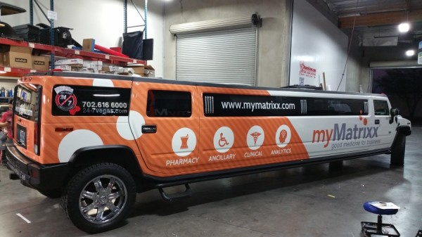 24-7 Limo Advertising temporary Vehicle Wrap (1)