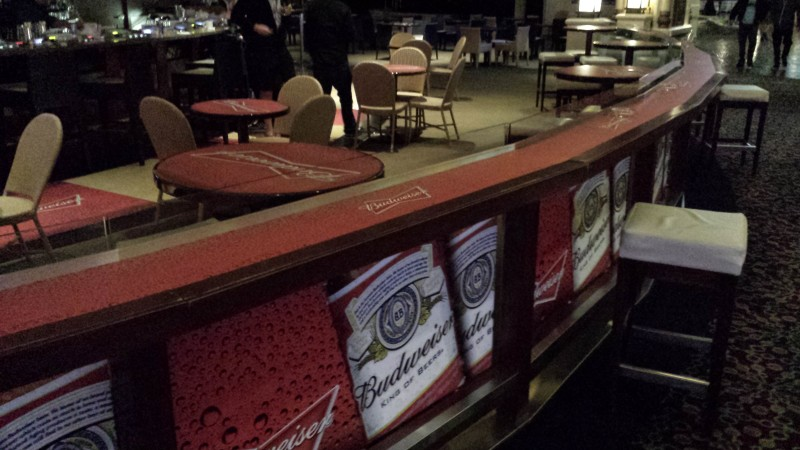 Casino Floor, bar and table graphics for Budweiser (5)
