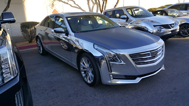 Chrome Wrap Vehicles for CES Cadillac CT6, Audi A8, etc (3)
