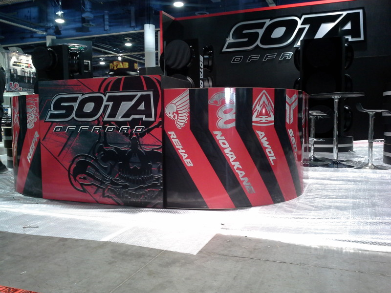 SOTA Booth Wrap at Sema