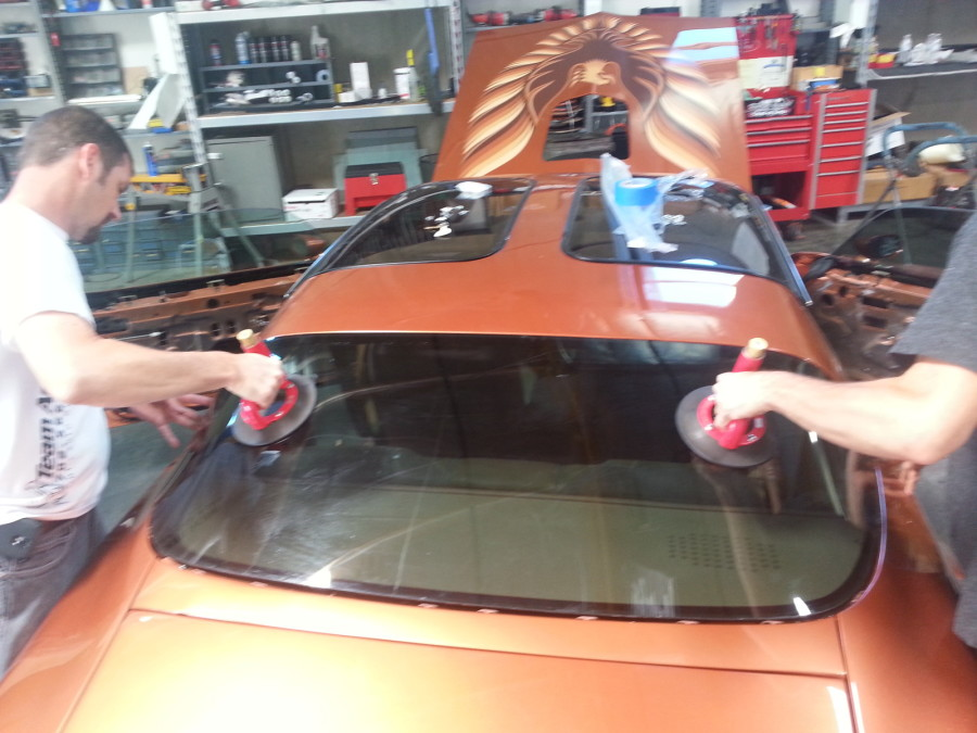 Trans Am Windshield and Back glass install and tint (9)